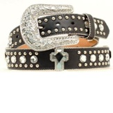 N3510401 Women's Nocona Black Cross Western Belt