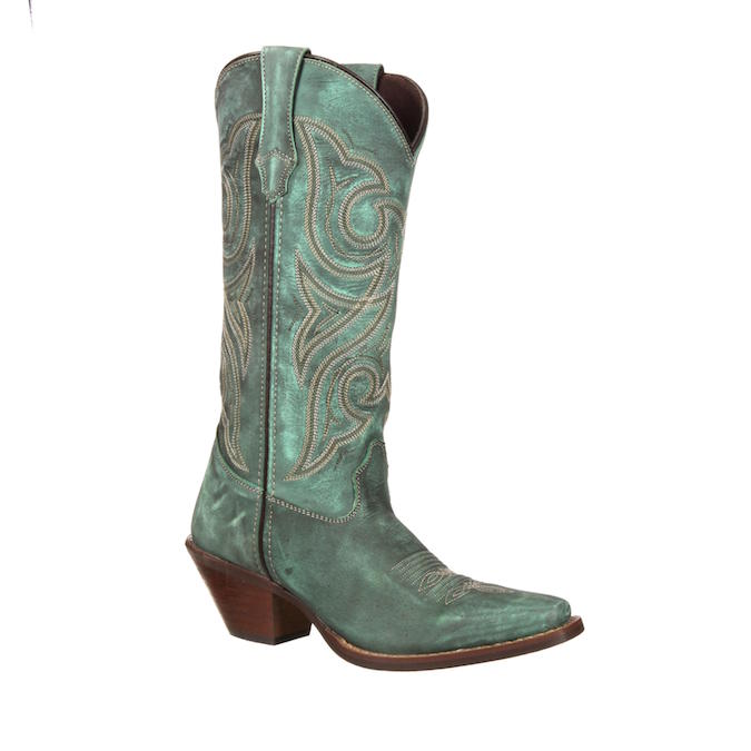 DCRD183 Women's Durango Crush Marbled Turquoise Cowboy Boot