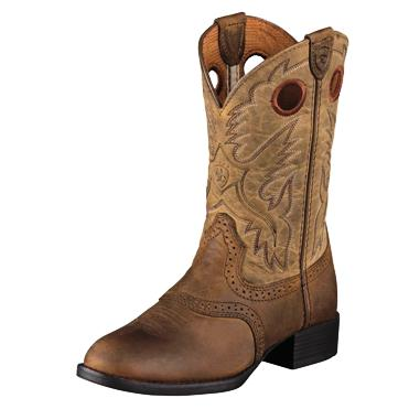 10001798 Children's Ariat Heritage Stockman Roper Cowboy Boot