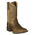 10002224 Men's Ariat Quickdraw Bark Square Toe Cowboy Boot