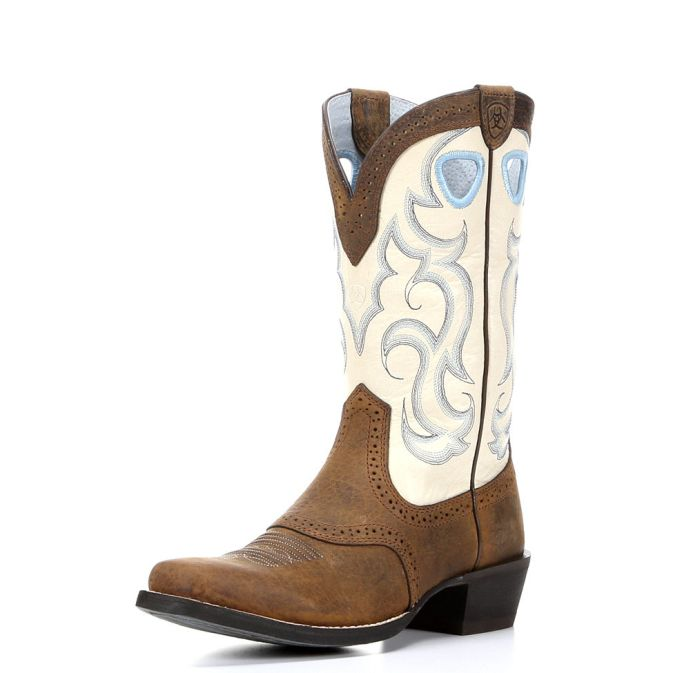 Elegant  Western Tan Leather Womens Cowboy Boots From Laredo Feature A 11