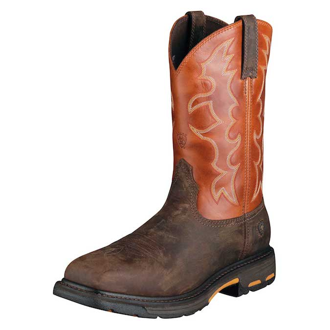 10006961 Men's Ariat Workhog Steel Toe Square Toe Bork Boot
