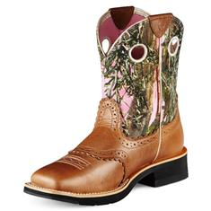 10007977 Women's Ariat Fatbaby Cowgirl Roper Boot