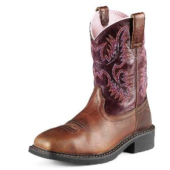 10009494 Women's Ariat Krista Pull-on Steel Toe Cowboy Work Boot
