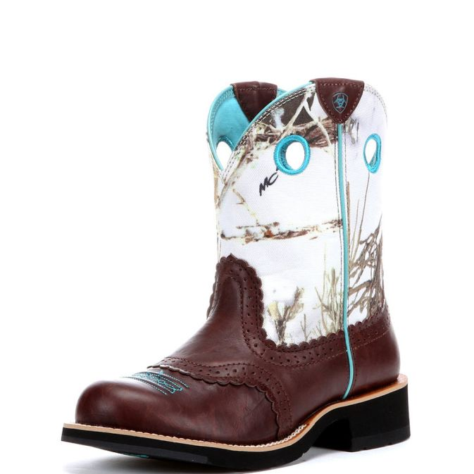 10009503 Women's Ariat Fatbaby Cowboy Roper Boot
