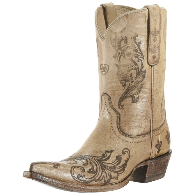 10009529 Women's Ariat Laser Etched Pegosa Cowboy Boot