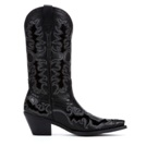 10010263 Women's Ariat Dandy Black Deertan Cowboy Boot