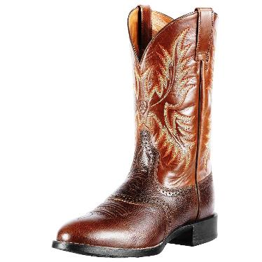 10010921 Men's Ariat Heritage Stockman Roper Cowboy Boot