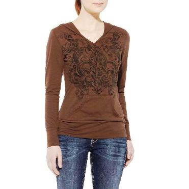 10011607 Women's Ariat Ada Brown Hoodie