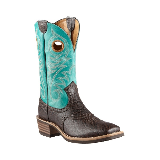 10011809 Men's Ariat Heritage Roughstock Square Toe Cowboy Boot