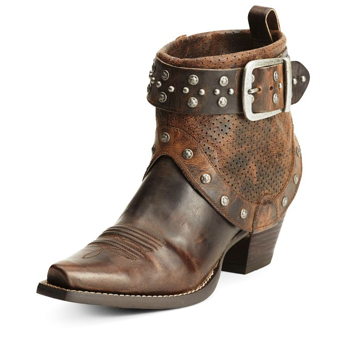 10012888 Ariat Defiance Studded Harness Short Cowgirl Boot