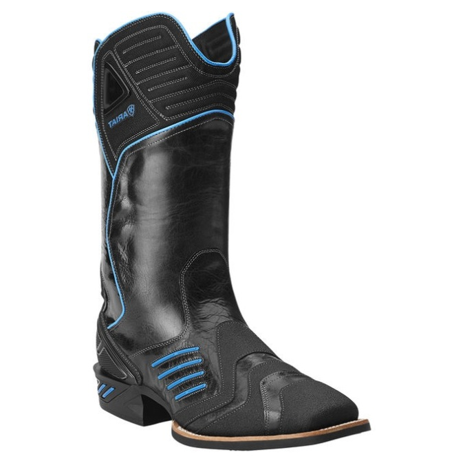 10014041 Men's Ariat Catalyst Thunder Black and Blue Cowboy Boot