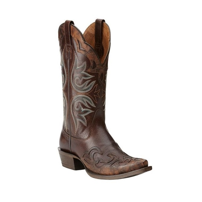 10014090 Women's Ariat Haven Wingtip Snip Toe Cowgirl Boot