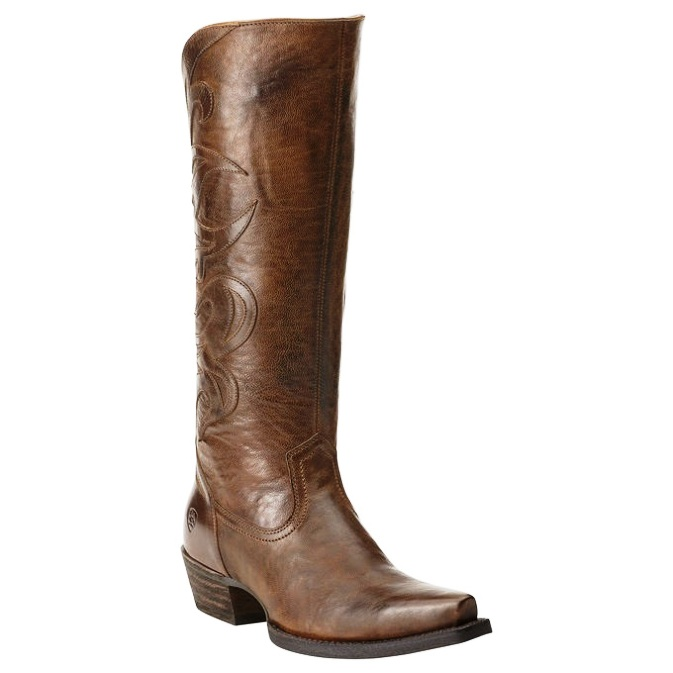 10014111 Women's Ariat Lyric Brown Snip Toe Cowgirl Boot