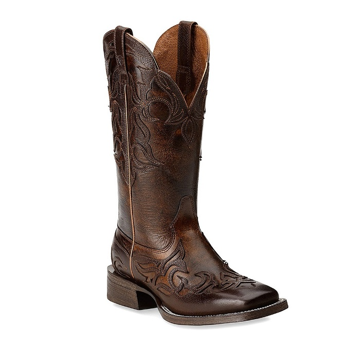 10014177 Women's Ariat Cassidy Square Toe Wingtip Cowgirl Boot