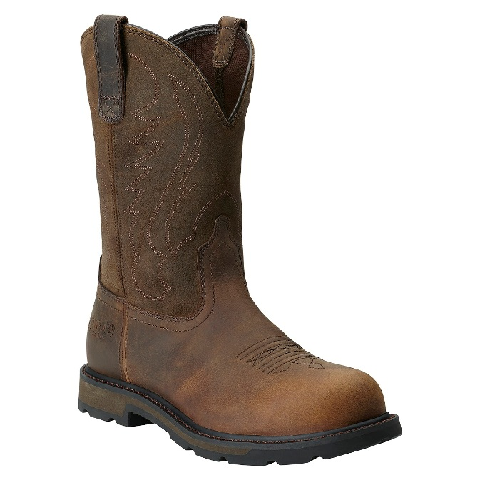 10014241 Men's Ariat Brown Groundbreaker Steel Toe Work Boot