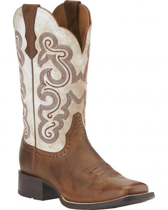 10015318 Women's Ariat Quickdraw Square Toe Cowboy Boot