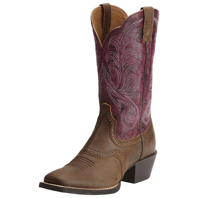 10015329 Women's Ariat Mesquite Square Toe Cowboy Boot