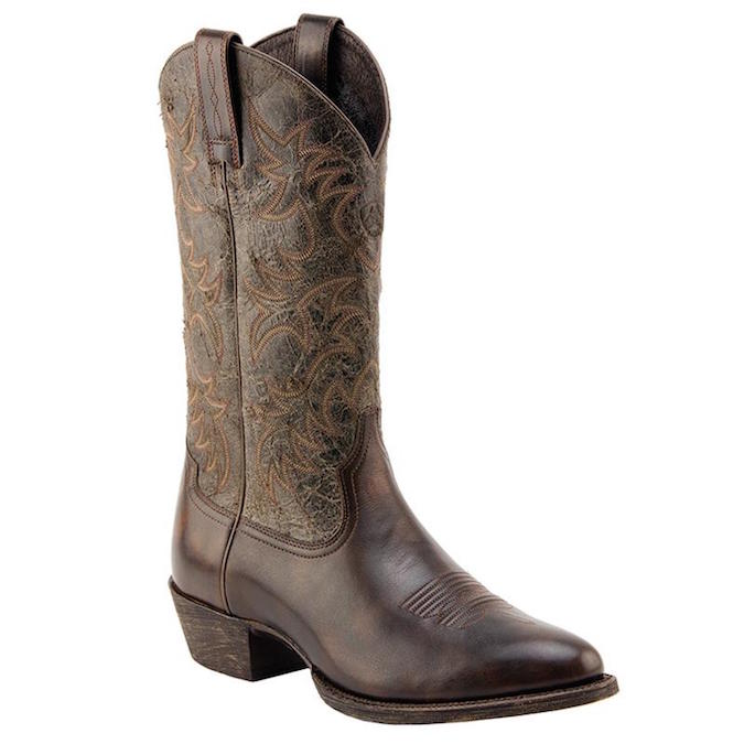 10015359 Men's Ariat Heritage R Toe Western Cowboy Boot