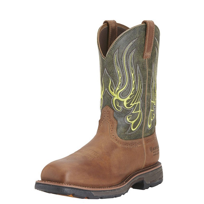 10015400 Men's Ariat Workhog Mesteno Safety Toe Work Boot