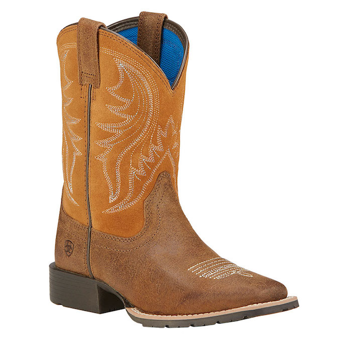 10016234 Boy's Ariat Hybrid Rancher Square Toe Cowboy Boot