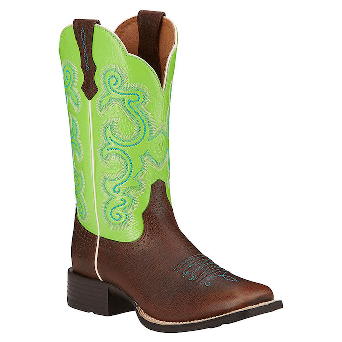 10016311 Women's Ariat Quickdraw Square Toe Cowboy Boot