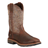 10017415 Men's Ariat Workhog Croc Print Square Toe Work Boot