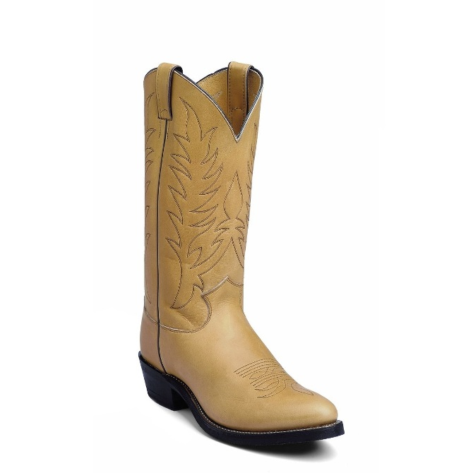 1122 Men's Justin Natural Mulehide Cowboy Boot