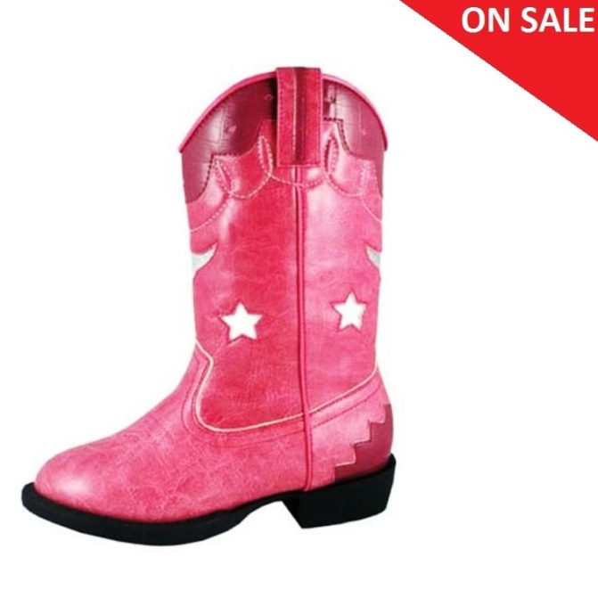 1167 Girl's Smoky Mountain Austin Lights Pink Light Up Boot