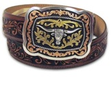 C12594 Men's Justin San Antonio Tan Belt