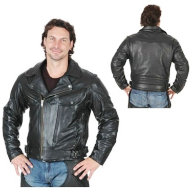 148.00B Men's Unik Vented Premium Leather Jacket (2XL-3XL)