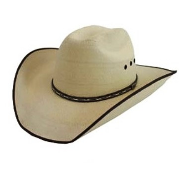 Atwood Hereford 15X Bound-Edge Palm Leaf Straw Cowboy Hat