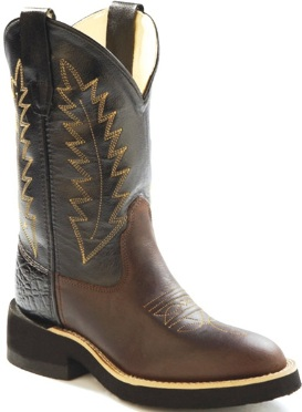 1606Y Children's Brown Leather Cowboy Boot