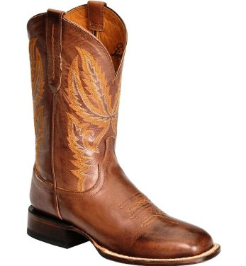 M1810.WF Men's Lucchese Tan Ranch Hand Square Toe Cowboy Boot