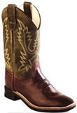 BSY1877 Children's Old West Brown Leather Roper
