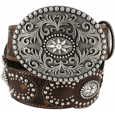 C20948 Women's Justin Brown Amarillo Star Belt