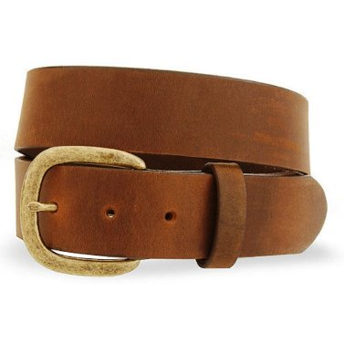232BR Men's Justin Brown Leather Work Belt