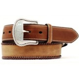 N2475644 Men's Nocona Top Hand Brown Leather Belt