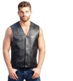 2611.00 Men's Conceal Carry Leather Motorcycle Vest
