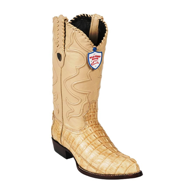 2990111 Men's Wild West Oryx J-Toe Caiman Tail Cowboy Boot
