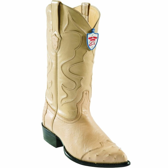 2990411 Men's Wild West Ostrich Wing Tip Oryx Cowboy Boot
