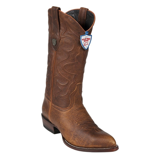2999951 Men's Wild West Brown Leather Cowboy Boot
