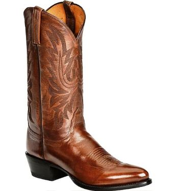 T3097.R4 Men's Lucchese Antique Brown Lone Star Calf Leather Cow