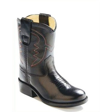 3110 Children's Old West Black Leather Cowboy Boot