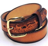"3115N Children's  3D 1 1/4"" Natural Western Fashion Belt"