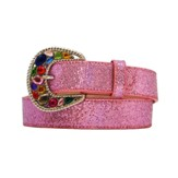 "3219 Children's 3D 1 1/4"" Pink Fashion Belt"
