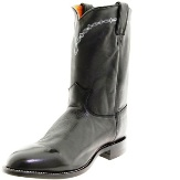 3233 Men's Justin Royal Black Cowhide Roper Cowboy Boot