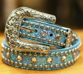 "3605 Children's 3D 1 1/4"" Turquoise Fashion Belt"