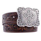 N3483802 Women's Nocona Emboss Cross Belt
