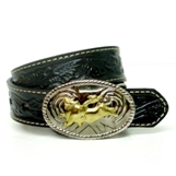 N4410401 Children's Nocona Black Tooled Belt